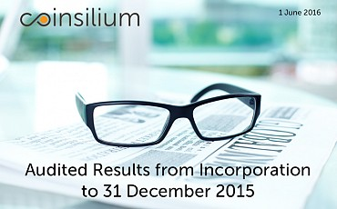 Audited Financial Results for the period from Incorporation to 31 December 2015
