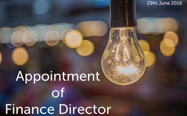 Appointment of finance director